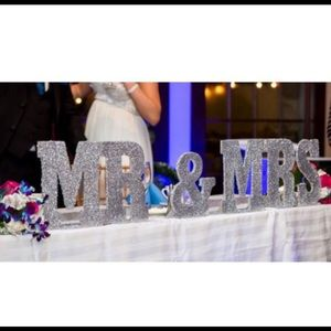 Mr & Mrs Wedding Table Letters. Bride & Groom